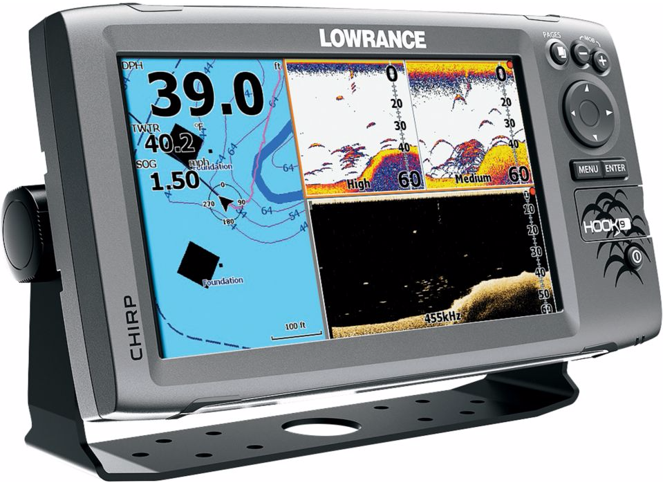 save $320 on a lowrance hook 9 mid/high downscan sonar/gps combo, Fish Finder