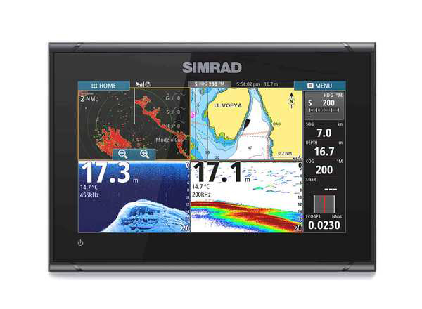 Best large screen format - SIMRAD GO9 XSE 9