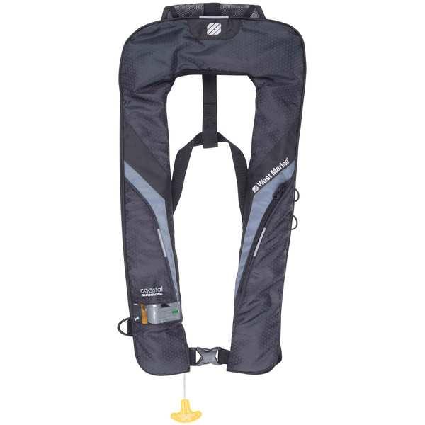 Coastal Automatic Inflatable Life Jacket (Black)