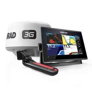 Simrad GO9 XSE with Navionics+ Cartography, TotalScan Transducer, and 3G Radar Bundle
