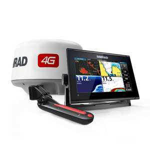 Simrad GO9 XSE with TotalScan Transducer and 4G Radar Bundle
